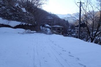 P3185059温泉裏の林道からスキーを履く.JPG
